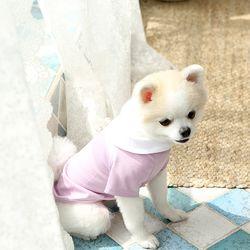 강아지 진주 카라 티셔츠 c1