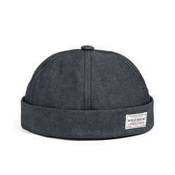 DENIM BRIMLESS CAP (black)