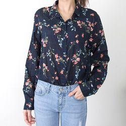 R8381 꽃무늬 소프트 베이직 셔츠
