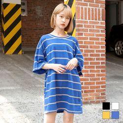 2137 미니 단가라 티셔츠 (4colors)