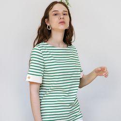 Short Sleeve Stripe T (Green)
