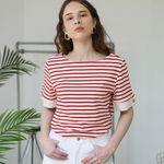 Short Sleeve Stripe T (Red)
