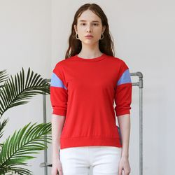 Color Block T (Red)
