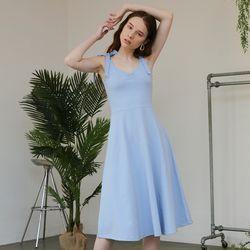 Jersey Flare Dress (Blue)