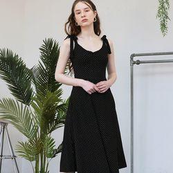 Jersey Flare Dress (Dot Black)