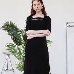 Square Neck Jersey Dress
