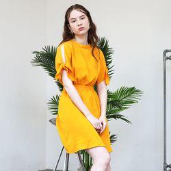 Slit Sleeve Dress (Yellow)