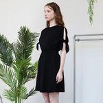 Slit Sleeve Dress (Black)