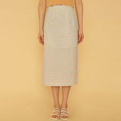 olsen check skirt (s m)