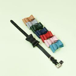 [Ribbon Gift] Solid Ribbon Collar M Black