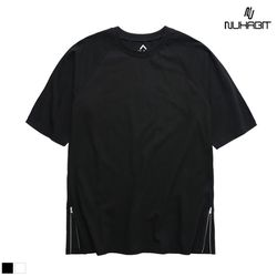 뉴해빗 - sidezipper layered t-shirts - 레이어드