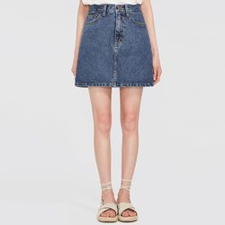 day A-line denim skirt (s m l)
