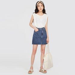 roundy linen sleeveless