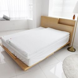 편안한 알로에 메모리폼 토퍼 바닥 요 침대 패드(S)