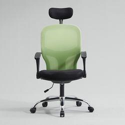 라인 의자 에어메쉬 헤드레스트형 스틸형