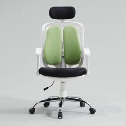 캐롤 의자 헤드레스트 스틸형 화이트