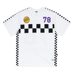 RACER OVERSIZED T-SHIRTS WHITE