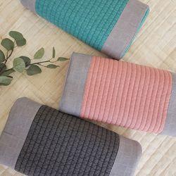 100수 자연염색 라텍스 베개
