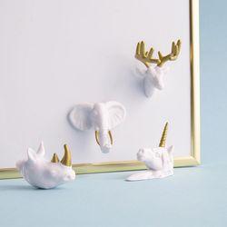 동물 얼굴 메모 자석 Animal head Magnets
