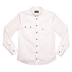 화이트 플랩포켓 슬림핏 셔츠 FLAP POCKET SHIRT