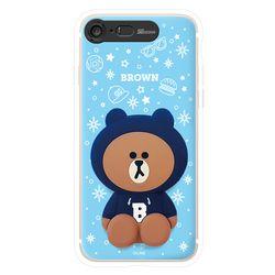 라인프렌즈 iPhone8 7 Plus 후드 실리콘 라이팅 CASE