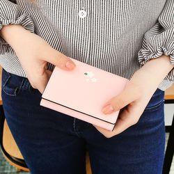 벚꽃비 - 핑크 쏙2지갑 반지갑 (LSB1805S2W015)