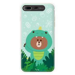 라인프렌즈 아이폰7 8 Plus 정글브라운 라이팅 CASE