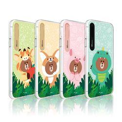 라인프렌즈 iPhoneX 정글 브라운 그래픽 라이팅 CASE