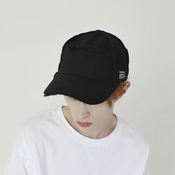 RAW WIDE CAP (BLACK)