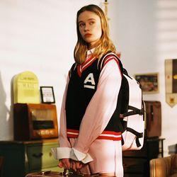 Ivy League Knit Vest (red)
