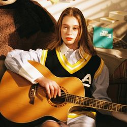 Ivy League Knit Vest (yellow)