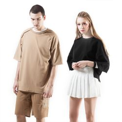 [6월15일 출고예정] 누에보 다크블랙 티셔츠 NST-E010