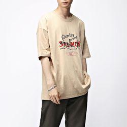 [매트블랙] 살몬 박스 반팔 티셔츠