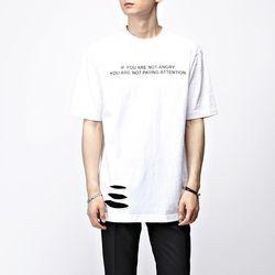 [매트블랙] 앵그리 구제 반팔 티셔츠