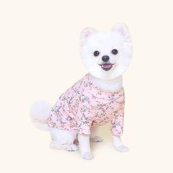 핑크꽃 티셔츠