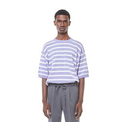 Sping stripe knit (purple)