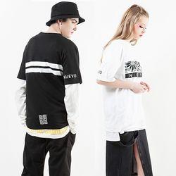 누에보 플라워 라인 티셔츠 NST-E003