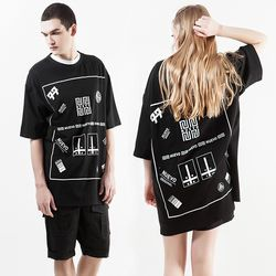 누에보 빅 로고 티셔츠 NST-E006