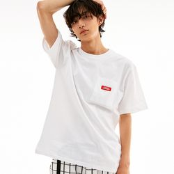 BD LOGO POCKET T-SHIRTS WHITE