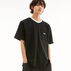 SILKET RISING LOGO POCKET T-SHIRTS BLACK