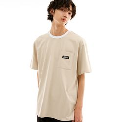 SILKET RISING LOGO POCKET T-SHIRTS BEIGE