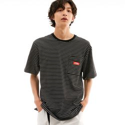 BD LOGO STRIPED POCKET T-SHIRTS BLACK