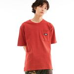 BD LOGO STRIPED POCKET T-SHIRTS RED
