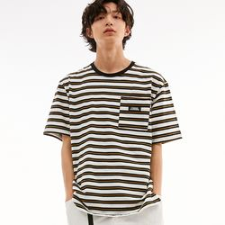 BD LOGO STRIPED POCKET T-SHIRTS MULTI BLACK
