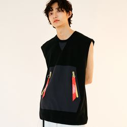 BD FLAG SLEEVELESS BLACK