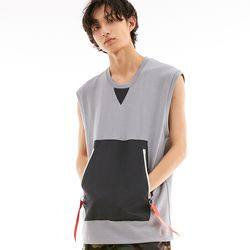 BD FLAG SLEEVELESS GREY