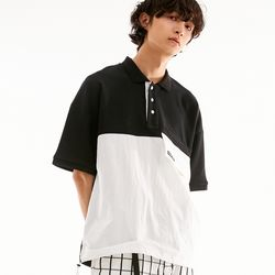 BD OVERSIZE POLO SHIRTS BLACK