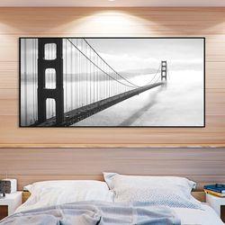 A0wide FA354 샌프란시스코 금문교 알루미늄 슬림액자