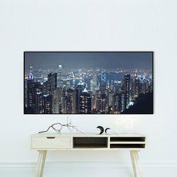 A0와이드 FA360 환상적인 홍콩야경 알루미늄 슬림액자
