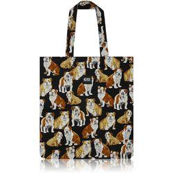 Bulldog Flat Tote Bag